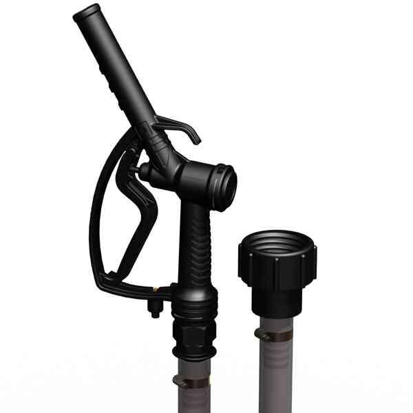 Zapfstelle – 1″ Zapfpistole auf S60x6 in schwarzer Färbung