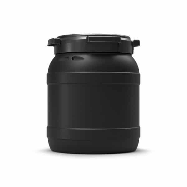 Das 15 Liter UV-beständige Fass schützt den Inhalt vor UV-Einwirkung