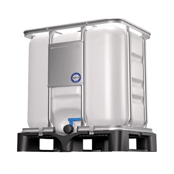 Der 300 Liter IBC Container wird mit UN-Zulassung geliefert