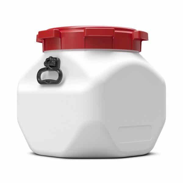 Das 40 Liter quadratische Fass finden in der Pharmazie- und Lebensmittelbranche besonders Anwendung