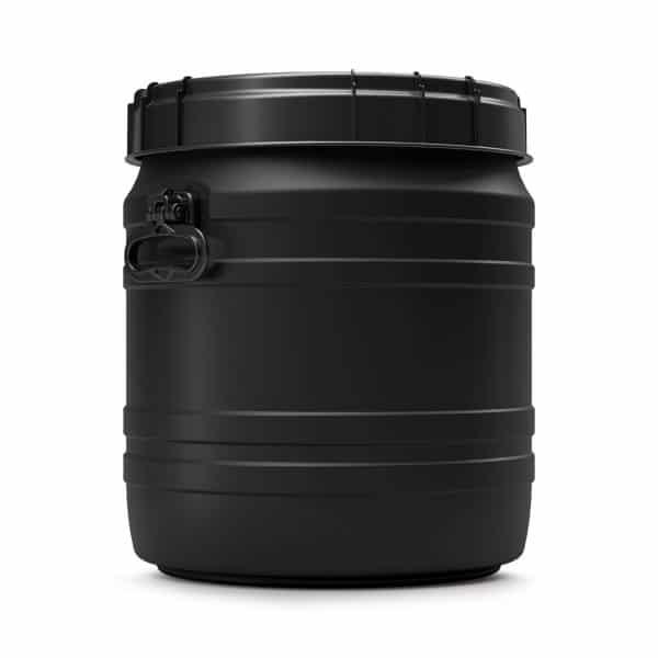Das 55 Liter UV-beständiges Fass schützt vor Verschlechterung des Inhaltes durch UV-Strahlung
