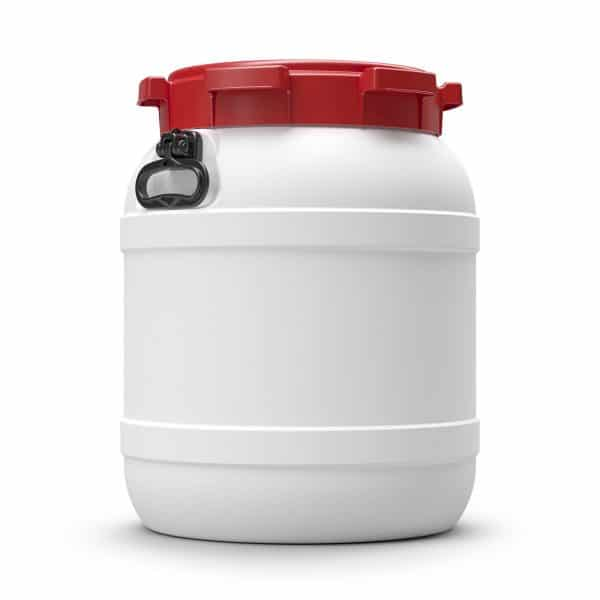 Das 55 Liter Weithalsfass bietet Schutz vor Schmutz und Feuchtigkeit