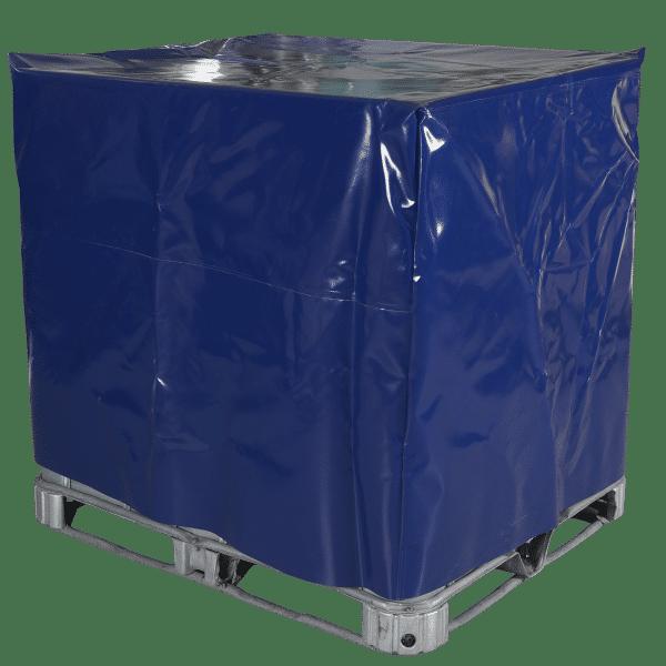Die Wasserdichte IBC Haube schützt den Container vor Feuchtigkeit und Nässe